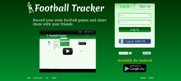 Football Tracker Home